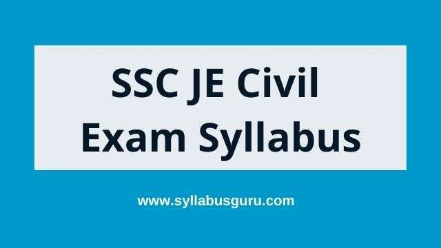 SSC je civil syllabus