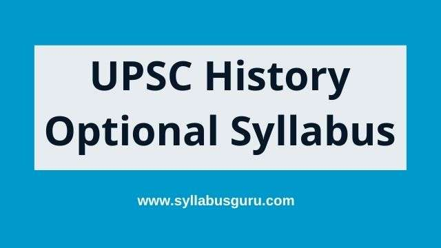 history optional syllabus