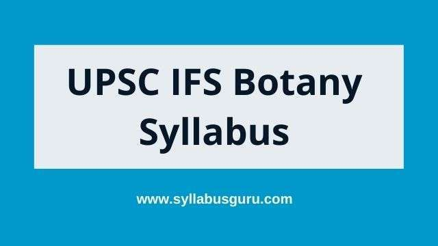 ifs botany syllabus