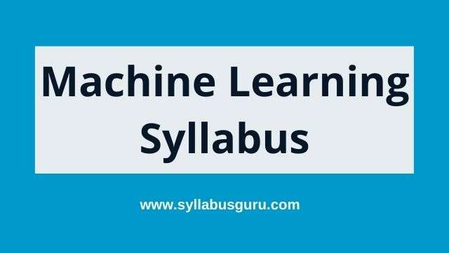 machine learning syllabus