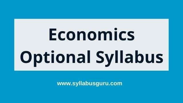 Economics optional syllabus