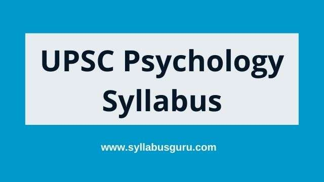 upsc psychology syllabus