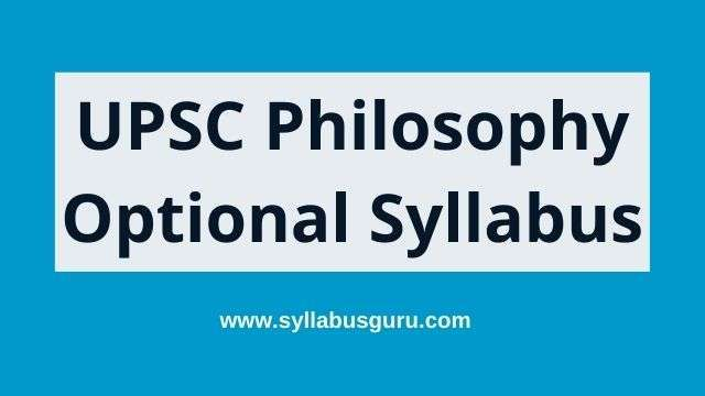 philosophy optional syllabus