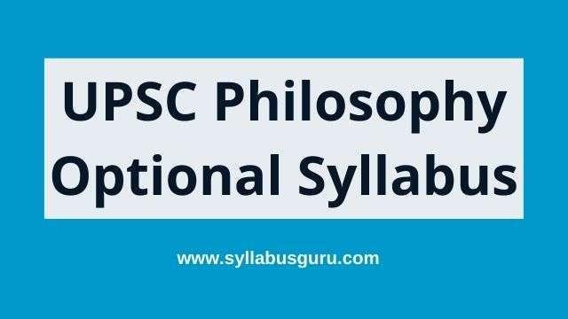 philosophy optional syllabus