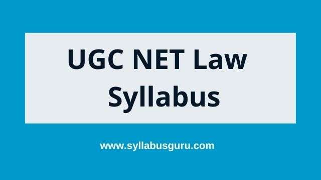 ugc net law syllabus