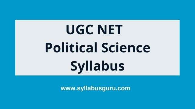 UGC net political science syllabus