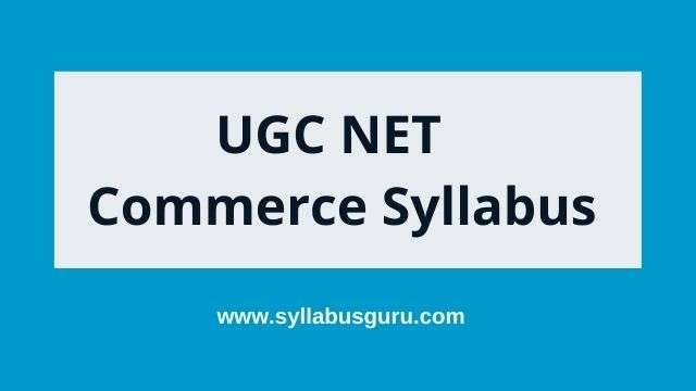 UGC net commerce syllabus