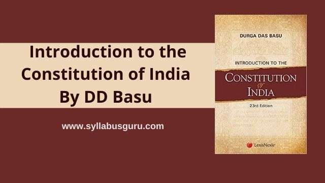 dd basu constitution of india pdf