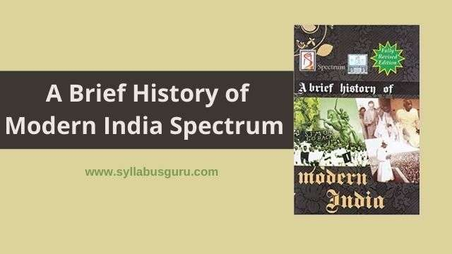 a brief history of modern india spectrum pdf