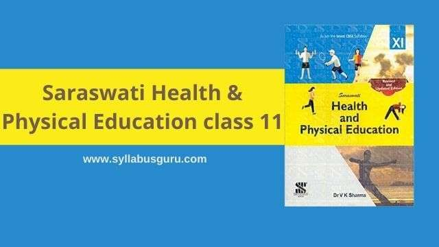 saraswati health and physical education class 11 pdf