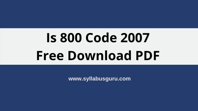is 800 code 2007 pdf