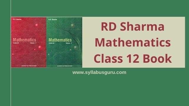 rd sharma class 12 pdf