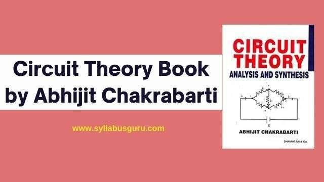 circuit theory by a chakrabarti pdf