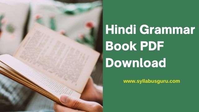 hindi grammar book pdf