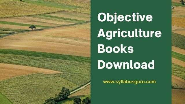 objective agriculture books free download