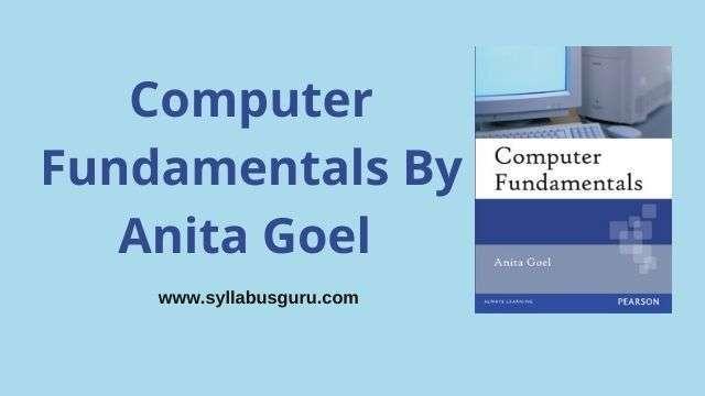 computer fundamentals by anita goel pdf