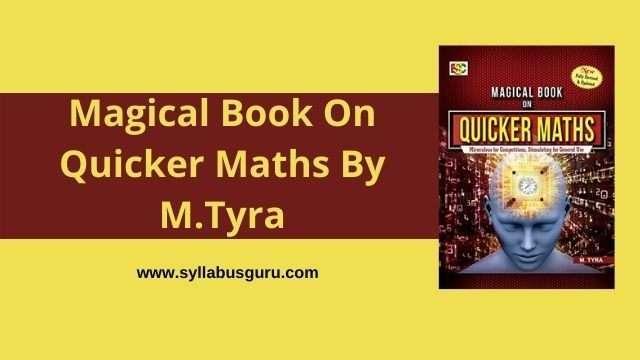 quicker maths by m tyra pdf