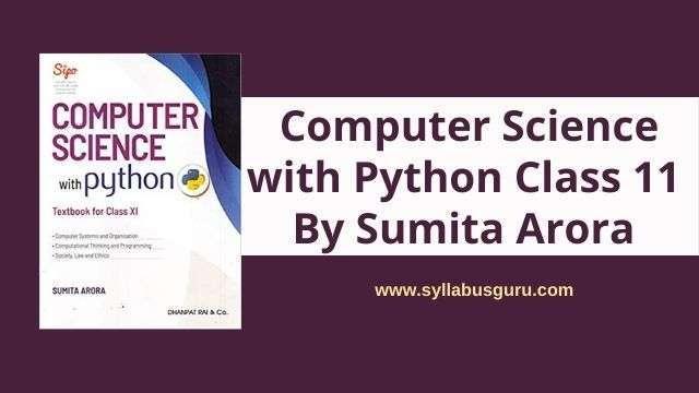 sumita arora python class 11 pdf