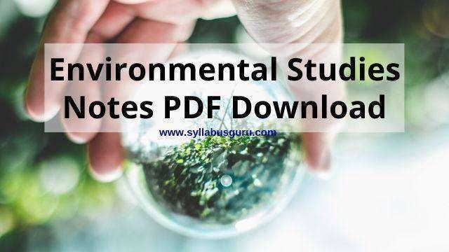 environmental studies notes pdf free download